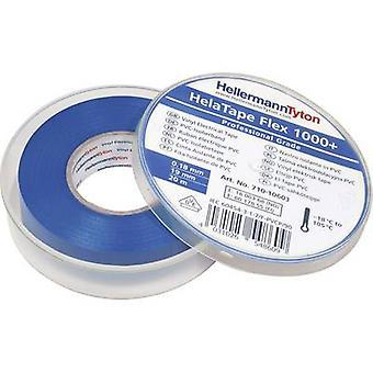 HellermannTyton HelaTape Flex 1000+ 710-10603 Electrical tape HelaTape Flex 1000+ Blue (L x W) 20 m x 19 mm 1 pc(s)