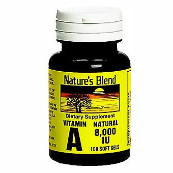 Nature's blend vitamin a, 8000 iu, softgels, 100 ea