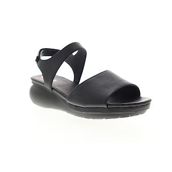 Camper Balloon  Womens Black Leather Strap Slingback Sandals Shoes