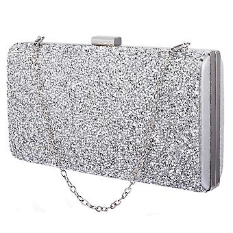 Glittery Envelope Bag - Silver