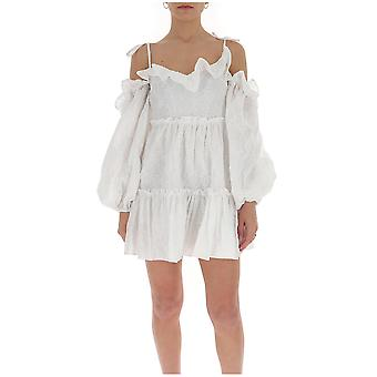 Wandering Wgs20409001 Women's White Cotton Dress