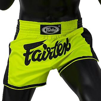 Fairtex BS1706 Slim Cut Muay Tajski Szorty Zielony