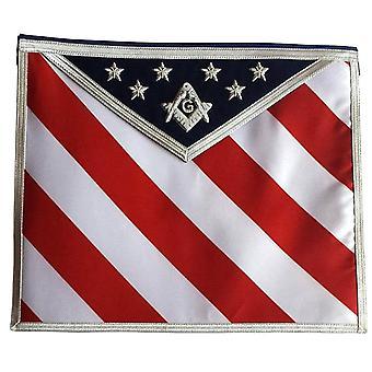 Masonic regalia hand geborduurd u.s master mason schort met g-logo