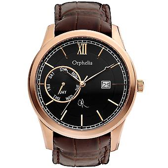 ORPHELIA Mens Analogue Watch Rich History Brown Leather 132-6707-43