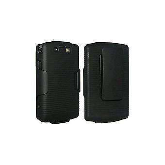OEM Verizon BlackBerry 9550 Storm 2 Skinn hylster Combo - svart (bulk emballasje)