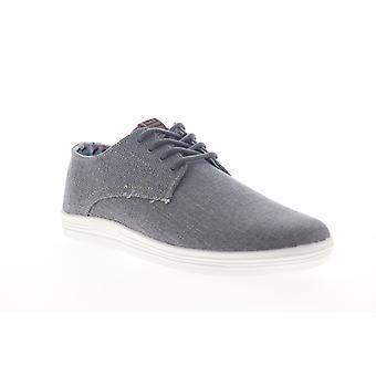 Ben Sherman Payton Oxford Mens Grå Canvas Låg Top Sneakers Skor