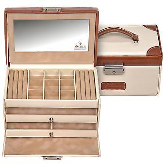 Sacher jewellery box cream Brown Castle mirror jewelry box TRAVEL