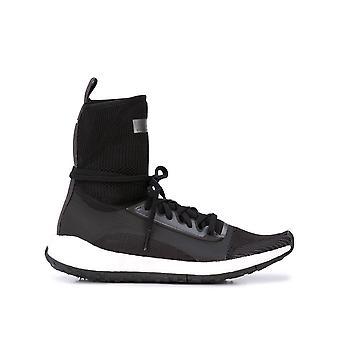 Adidas By Stella Mccartney Ezcr024008 Women's Black Nylon Hi Top Sneakers
