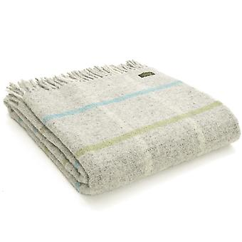 Tweedmill Pure New Wool Windowpane Stone Throw