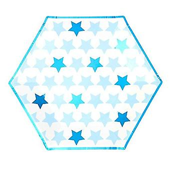 Little Star Blue - Large Paper Paper Plates - 8 Pack