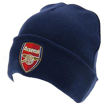 Official licensed arsenal football club ski hat beanie navy colour
