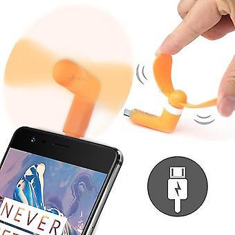 Archos Oxygen 68XL (Type-C - Orange) Portable Pocket Sized USB Mini Fan