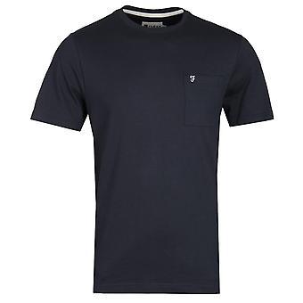 Farah Edwards Modern Fit True Navy Pocket Camiseta