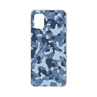 Hull til Samsung Galaxy A71 Soft Blue Military Camouflage