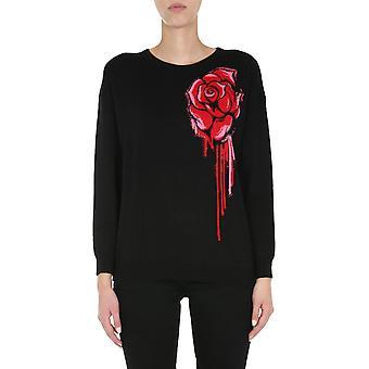 Boutique Moschino 091161001555 Women's Black Wool Sweater