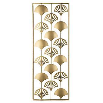 Decorazione Da Parete Lines Color Oro in Metallo 30x1x80 cm