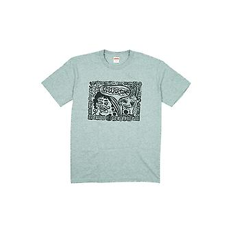 Supreme Faces Tee Heather Grey - Clothing