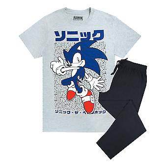 Sonic The Hedgehog Men's Pizsama póló és lounge pant szett