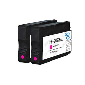 2 Go Musteet Magenta yhteensopiva tulostimen mustekasetit korvata HP 953M (XL Kapasiteetti) Yhteensopiva / ei-OEM HP Officejet Tulostimet