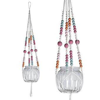 Painted Beads Macrame Hanger Kit for Small Jar or Vase  | Adults Craft Kits & Gifts