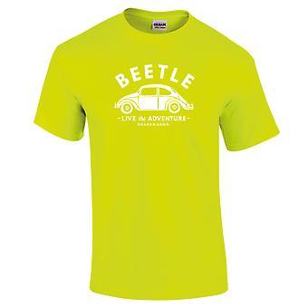 Volkswagen Beetle White Live The Adventure Women's Neon T-Shirt