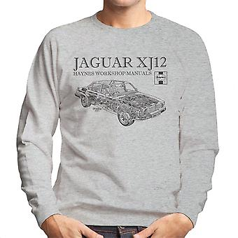 Haynes proprietários Workshop Manual 0242 Jaguar XJ12 preto de moletom masculino