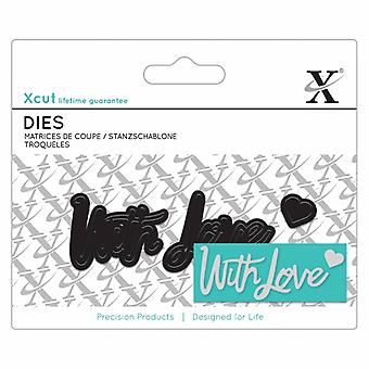Xcut Mini Sentiment Die (3pcs) - With Love (XCU 504037)