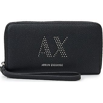 Armani Exchange Zip Round Wristlet Wallet