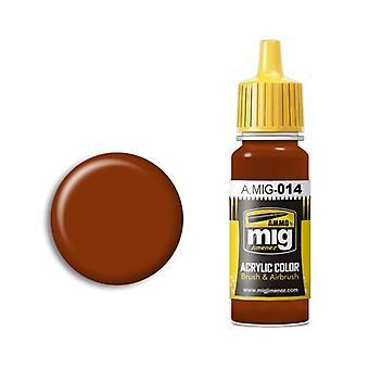 Ammo by Mig Acrylic Paint - A.MIG-0014 RAL 8012 Rotbraun (17ml)