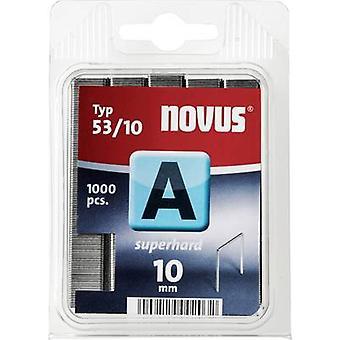 Type 53 fijne draad nietjes 1000 PC('s) Novus 042-0357 Clip Typ 53/10 afmetingen (L x W) 10 x 11.3 mm