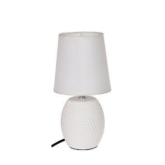 Table de lampe en céramique blanche H27 cm