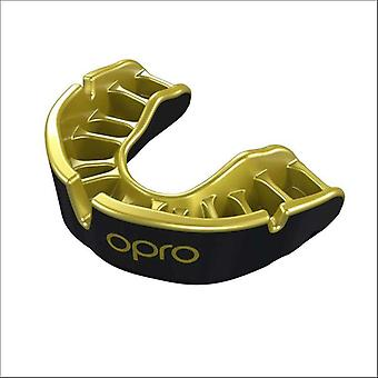 Opro junior gold gen 4 mouth guard black/gold