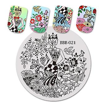 Nail Stamping Plates - Natural Animal Snake Scale Flower Wolf Theme Image Stencil