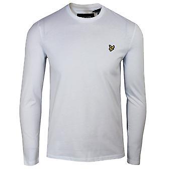 Lyle & scott men's weißes Langarm-T-shirt