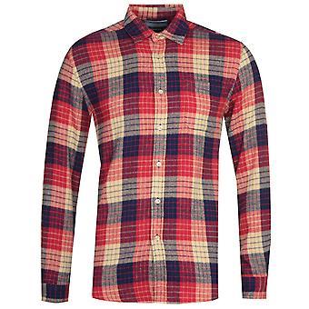 Chemise portugaise de village mélangé de flanelle