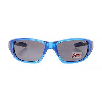sportzonnebril unisex lichtblauw met grijze lens