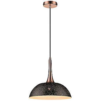 1 Light Dome Tak Hängande Svart, Koppar, E27