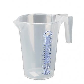 maatbeker polyproyleen 1 liter transparant
