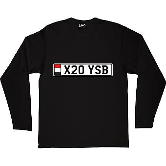Camiseta preta X20 YSB de manga comprida