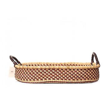 Cosy Coco Handwoven Grass Changing Basket Avec Pad | Moka