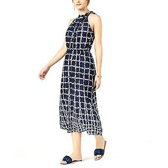 Maison Jules   Bedrucktes Rüschen-Tie-Neck-Kleid