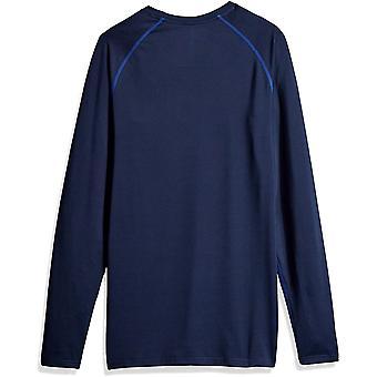 Essentials Men's Control Tech Long-Sleeve Shirt, Navy, Large