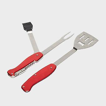 Ny Hi-Gear Deluxe Grill 5 i 1 Tool Rød