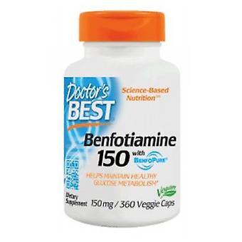 Doctors Best Benfotiamine, 150 mg, 360 Veggi Caps