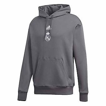 2020-2021 Real Madrid SSP kapucnis pulóver (szürke)