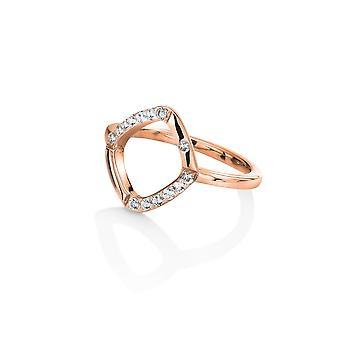 Hot Diamonds Sterling Silver Rose Gold Behold White Topaz Ring
