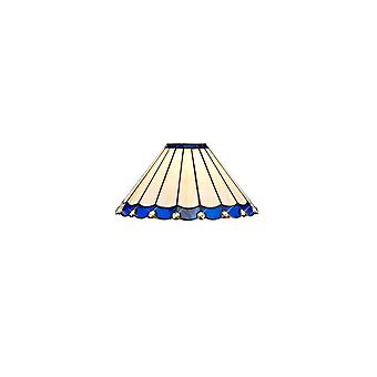 Morgan Tiffany 30cm Tonalità non elettrica, Blu/crema/cristallo