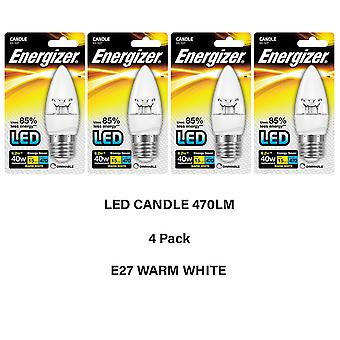 Energizer 15,000 LED Dimmable Light Bulbs-4 Packs Blister Candle E27  Warm White