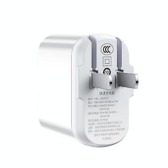 USAMS US-CC103 T30 18W QC3.0+PD3.0 Digital Display Fast Charging Travel Charger Power Adapter, CN Plug (Wit)