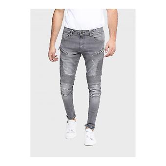 883 Police Brady Distressed Grey Slim Fit Jeans